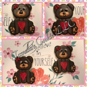 Valentine Bear Cookie
