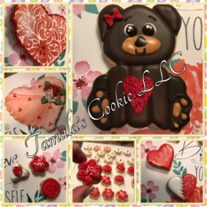 Valentine Bears Cookie